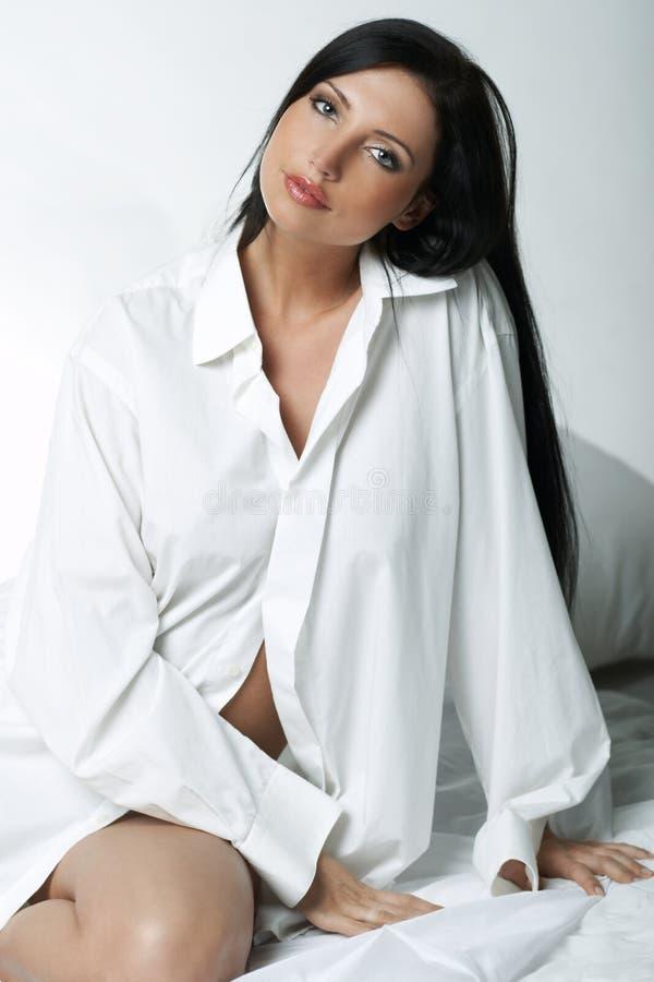 White XXL Shirt royalty free stock image