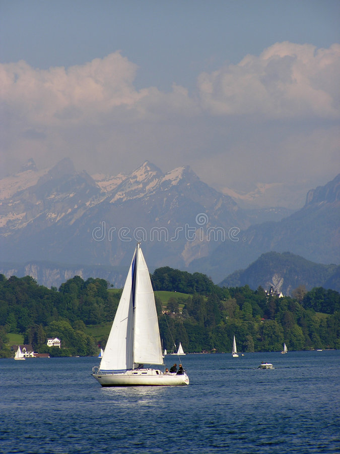 Download White yacht stock photo. Image of yacht, lucerne, beautiful - 8794