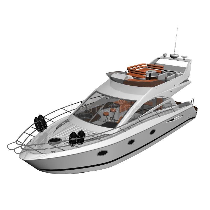 White Yacht vector illustration