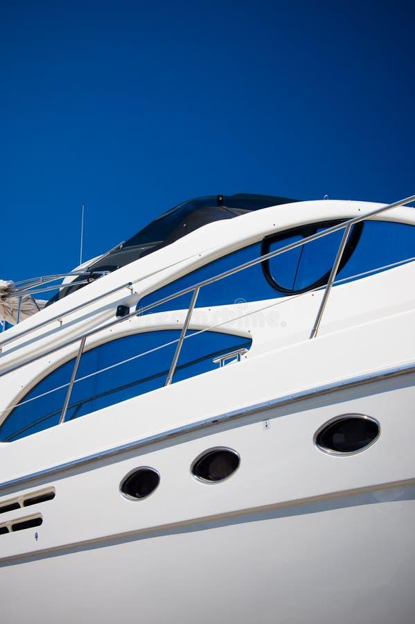 White yacht royalty free stock photo