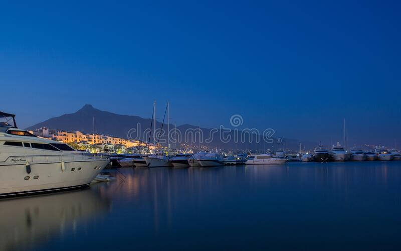 White Yacht On Body Of Water During Nighttime Free Public Domain Cc0 Image