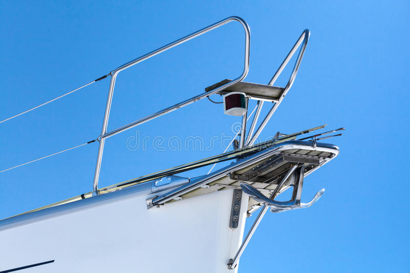 Download White yacht bow fragment stock photo. Image of close - 30635288