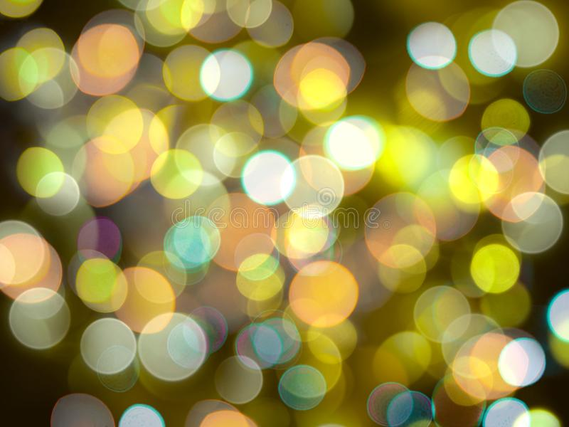 White and yellow bright glowing blurred lights abstract background royalty free stock photos