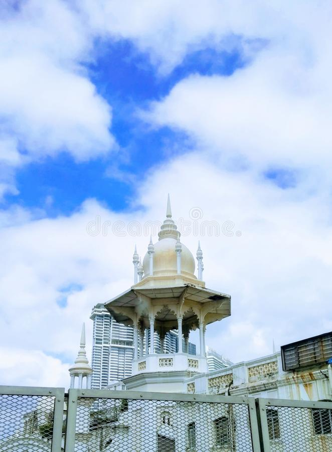 White and Yellow Dome Church royalty free stock photography