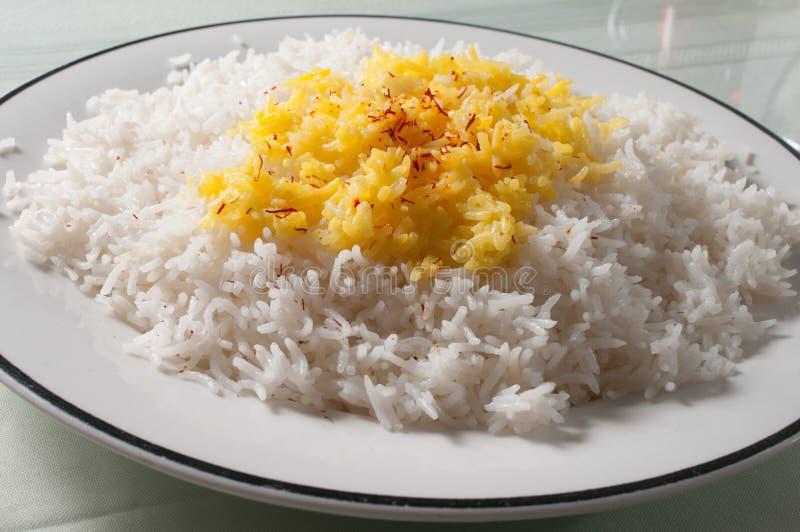 white and yellow rice stock photos