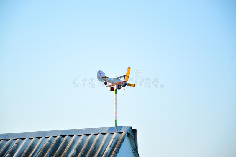 White and Yellow Wind Mill during Day Time royalty free stock photography