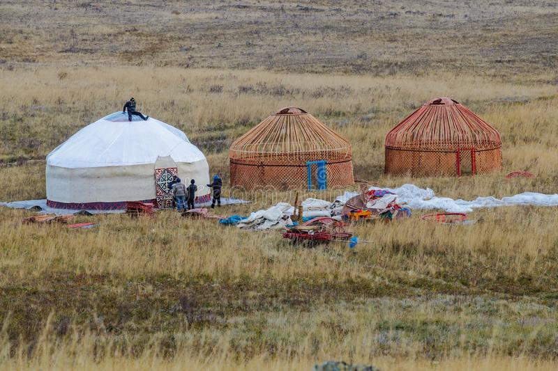 Download White Yurt - Nomad`s Tent Is The National Dwelling Of Kazakhstan People Editorial & White Yurt - Nomad`s Tent Is The National Dwelling Of Kazakhstan ...
