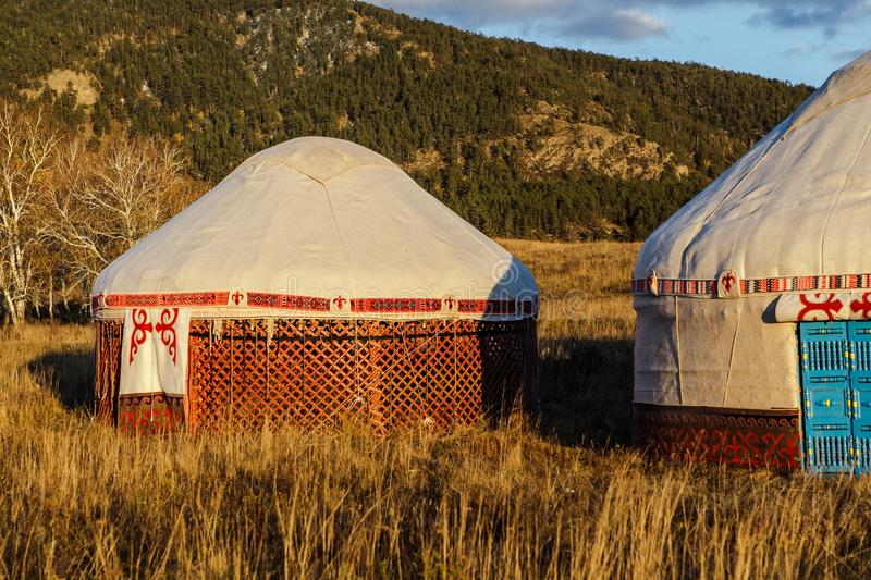 Download White Yurt - Nomad`s Tent Is The National Dwelling Of Kazakhstan People Stock & White Yurt - Nomad`s Tent Is The National Dwelling Of Kazakhstan ...