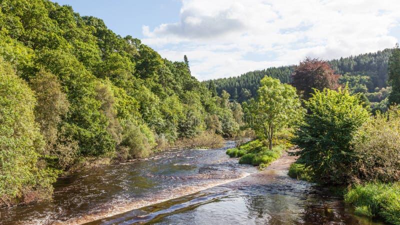 Whiteadder River na Escócia imagem de stock