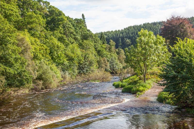 Whiteadder River na Escócia fotografia de stock