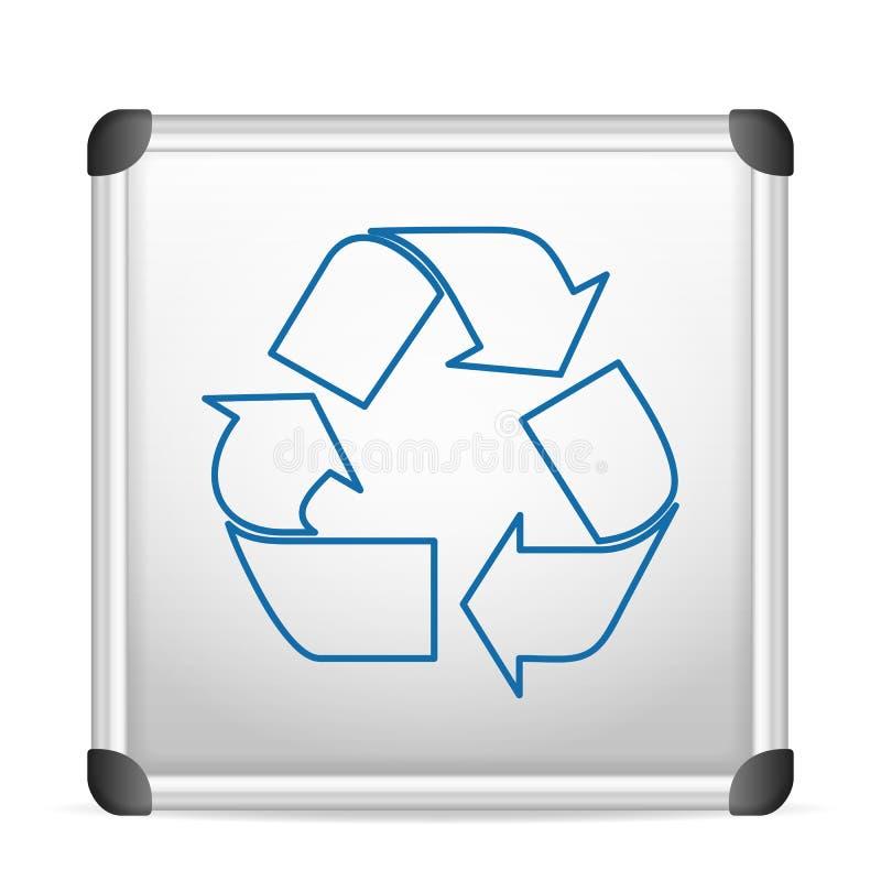 Whiteboard ανακύκλωσης απεικόνιση αποθεμάτων