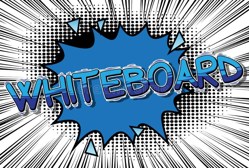 Whiteboard - λέξη ύφους κόμικς διανυσματική απεικόνιση
