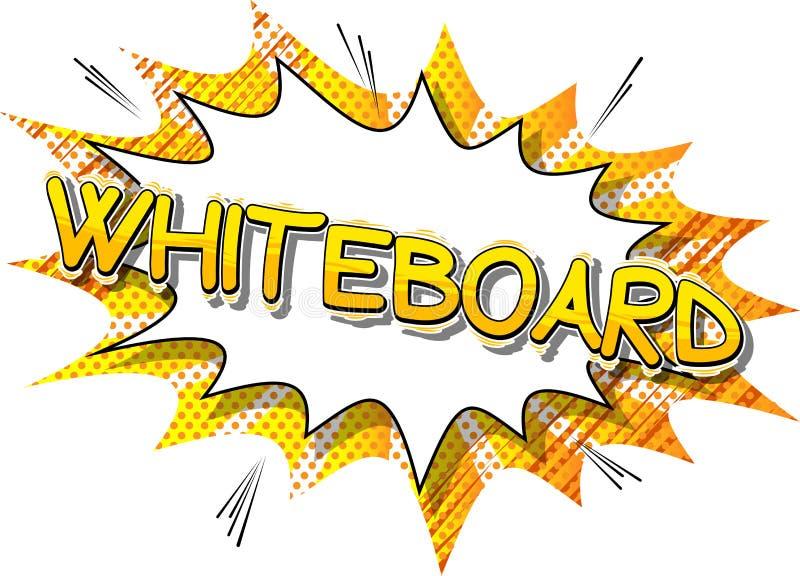 Whiteboard - λέξη ύφους κόμικς ελεύθερη απεικόνιση δικαιώματος