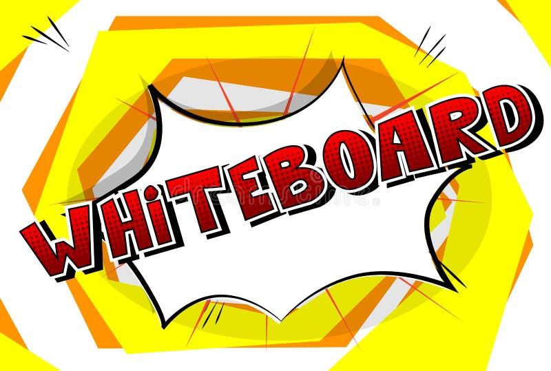 Whiteboard - λέξη ύφους κόμικς απεικόνιση αποθεμάτων