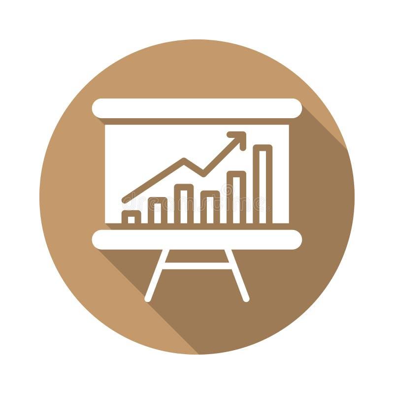 Whiteboard με την ανάπτυξη του επίπεδου εικονιδίου διαγραμμάτων διανυσματική απεικόνιση