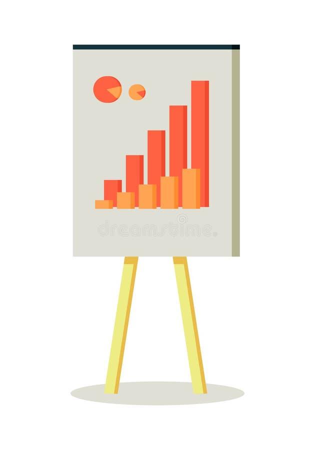 Whiteboard με Infographics απεικόνιση αποθεμάτων
