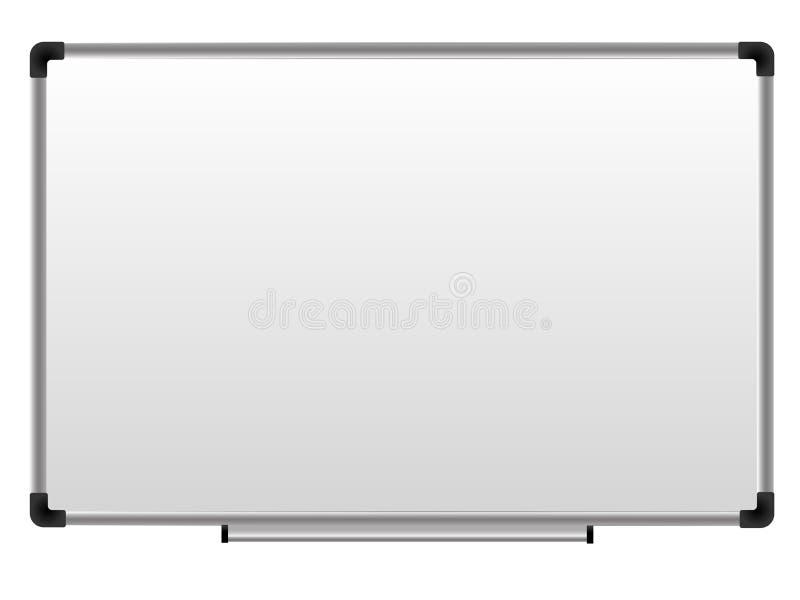 Whiteboard, πίνακας δεικτών γραφείων, μαγνητικό whiteboard για το σχολείο ή το γραφείο διανυσματική απεικόνιση