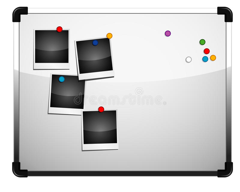 Whiteboard. Vector: whiteboard and several magnatic stock illustration