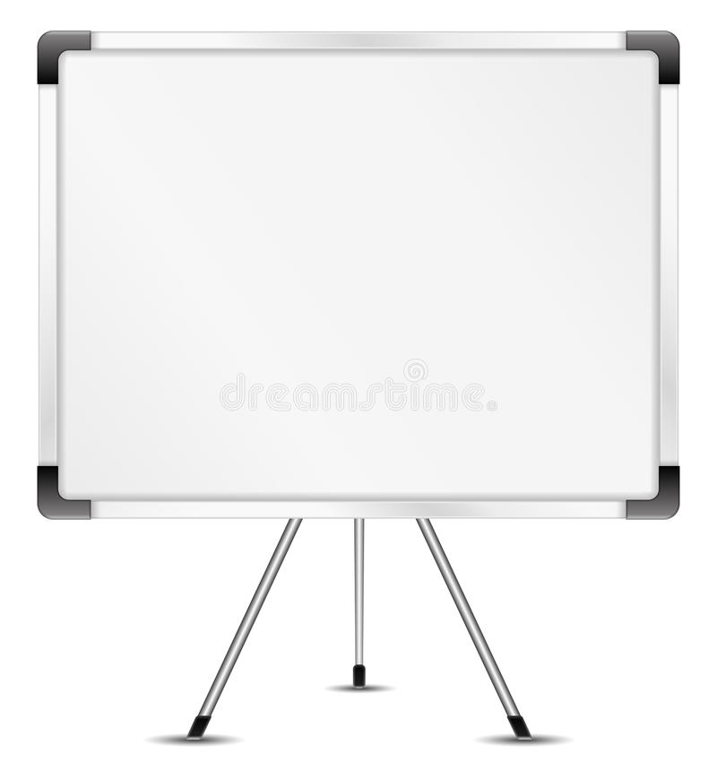 Whiteboard. On a white background stock illustration