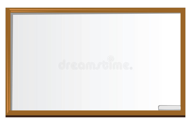 Whiteboard. Cartoon illustration of a whiteboard vector illustration