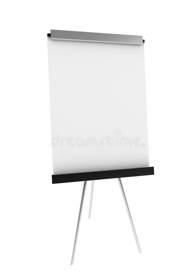 Whiteboard. A clean 3d whiteboard, over white, isolated vector illustration