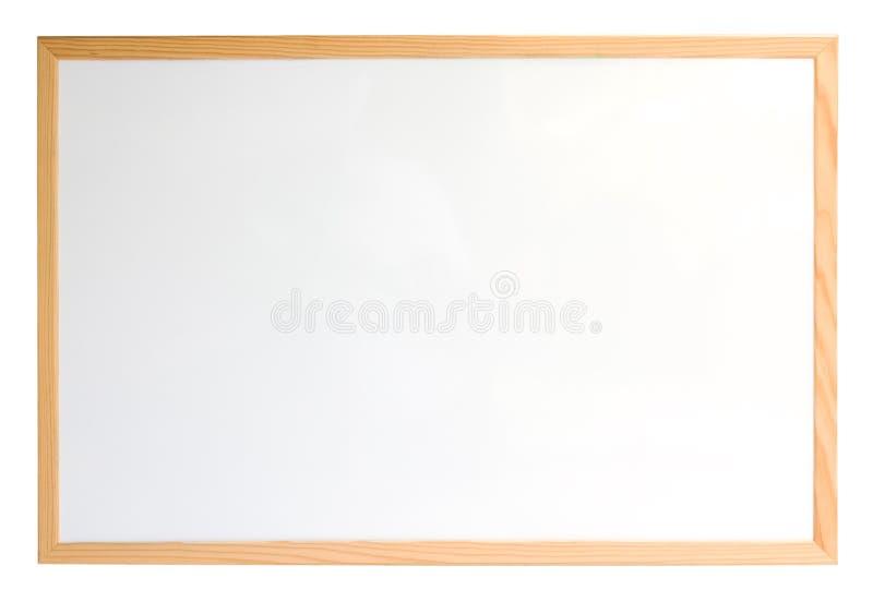 Whiteboard aisló sobre blanco imágenes de archivo libres de regalías