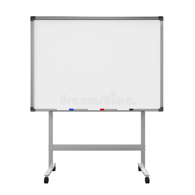 Whiteboard blanc illustration stock