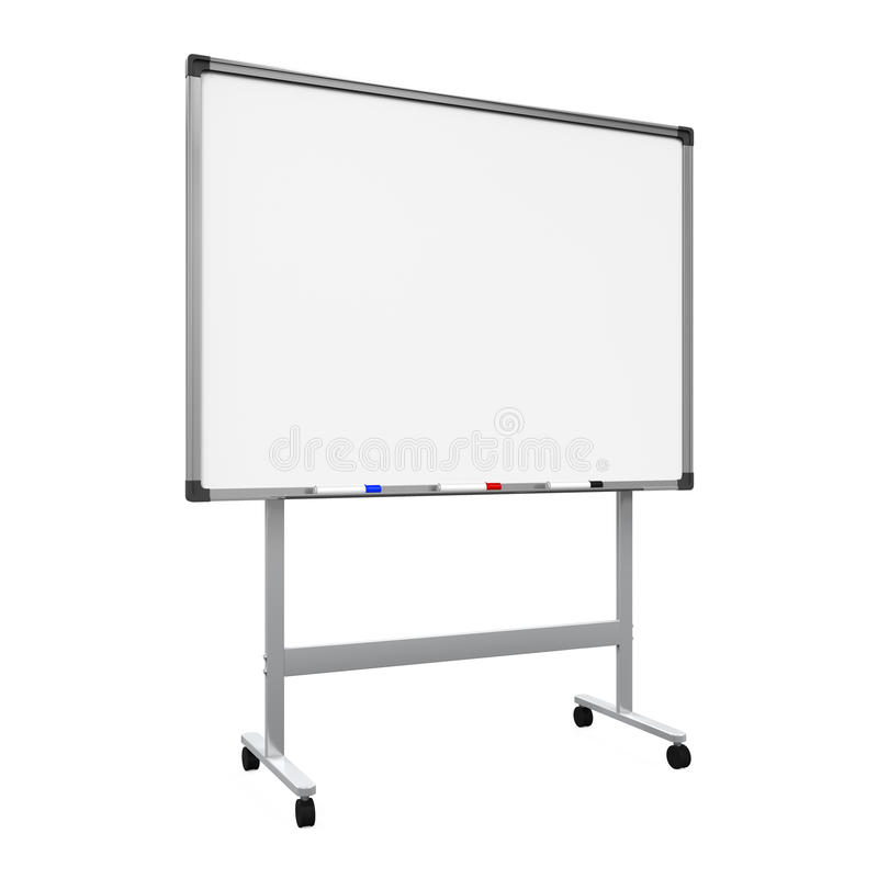 Whiteboard blanc illustration stock
