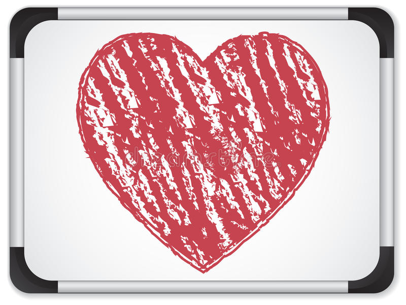 Whiteboard con cuore scritto con gesso royalty illustrazione gratis