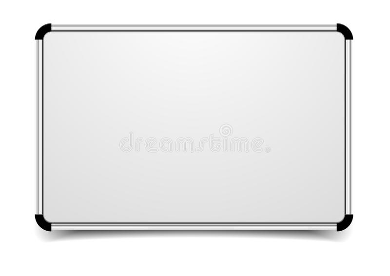 Whiteboard. Detailed illustration of a blank whiteboard stock illustration