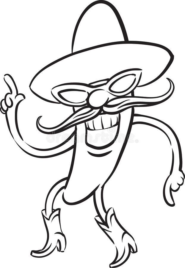 free coloring pages chili pepper - photo#22