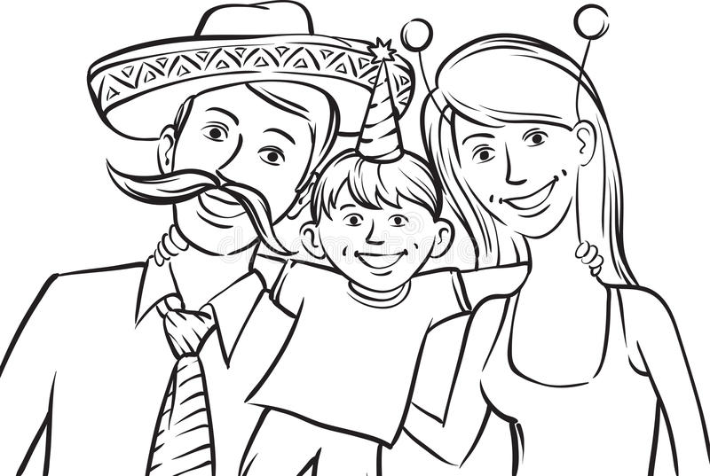 multi race family coloring pages - photo#3