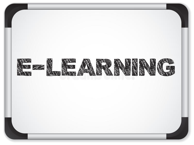 Download Whiteboard With E-learning Message Stock Vector - Image: 20536975