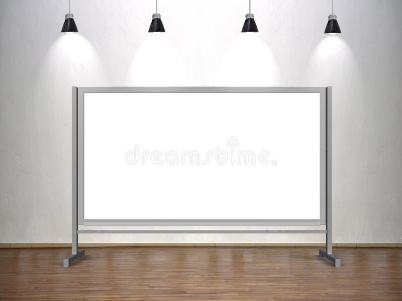 Whiteboard em branco ilustração stock