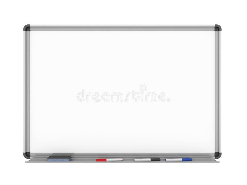 Whiteboard em branco isolado ilustração stock