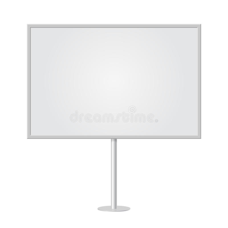 Whiteboard en blanco con el espacio vacío de la copia, soporte en una ayuda de la barra libre illustration