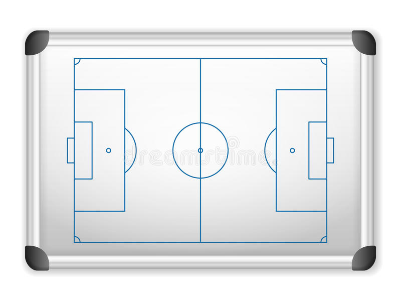 Whiteboard fotboll stock illustrationer