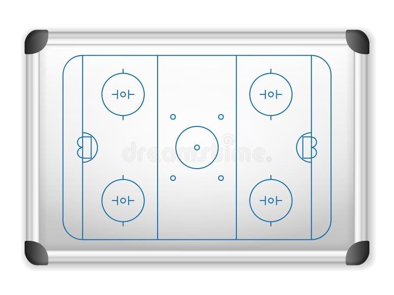Whiteboard hockey vektor illustrationer