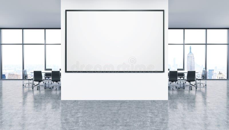 Whiteboard i regeringsställning inre royaltyfri illustrationer