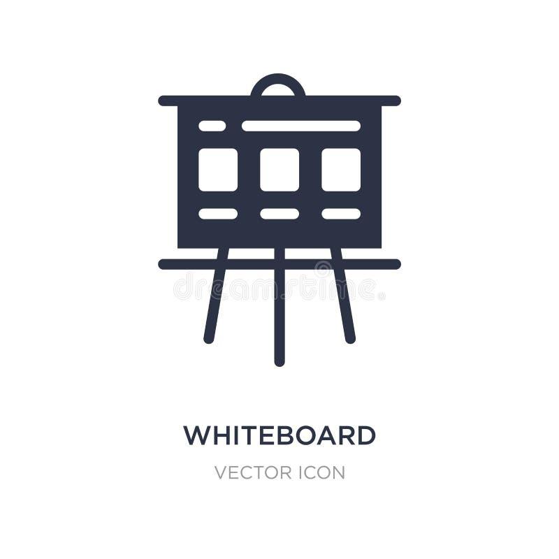 whiteboard ikona na białym tle Prosta element ilustracja od wyszukiwarki optymalizacji pojęcia royalty ilustracja