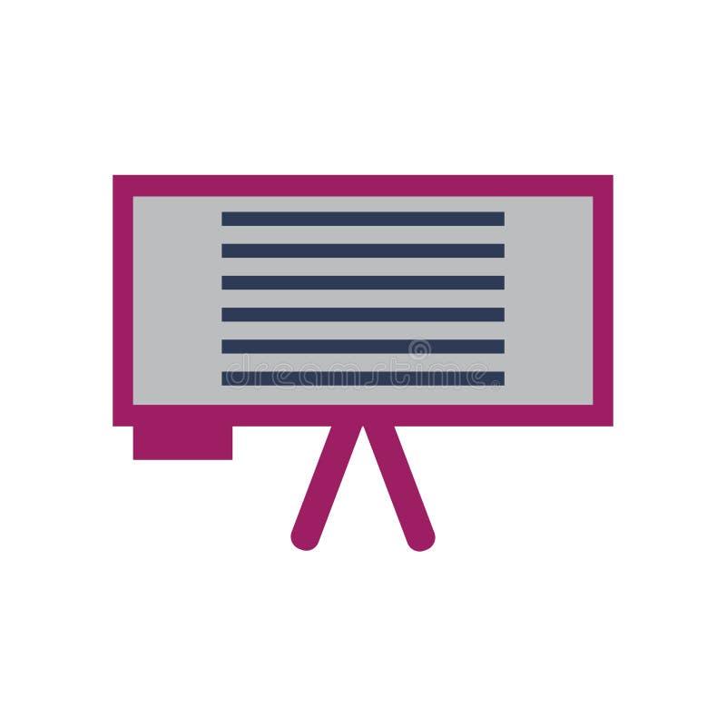 Whiteboard ikony wektor odizolowywający na białym tle, Whiteboard znak, kolorowi wyposażenie symbole royalty ilustracja