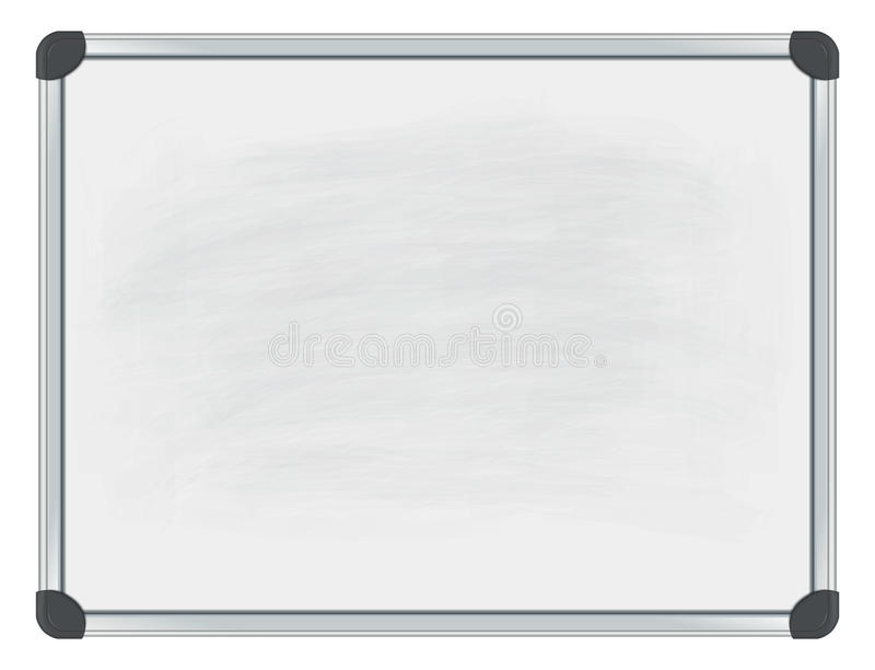 Whiteboard. Image of whiteboard. Transparency,mesh and blend effects used. All elements are grouped and can be easily changed royalty free illustration