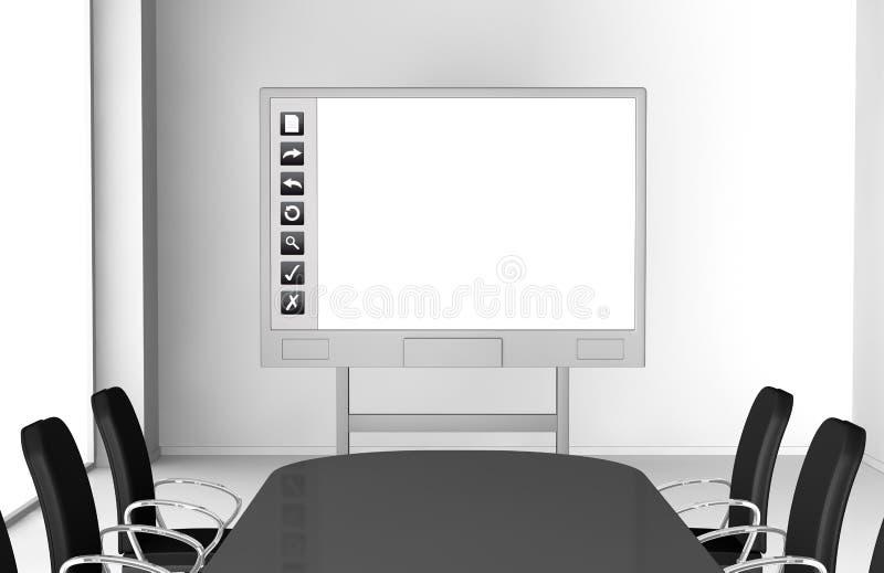 Whiteboard interativo ilustração royalty free
