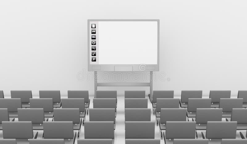 Whiteboard interativo ilustração do vetor