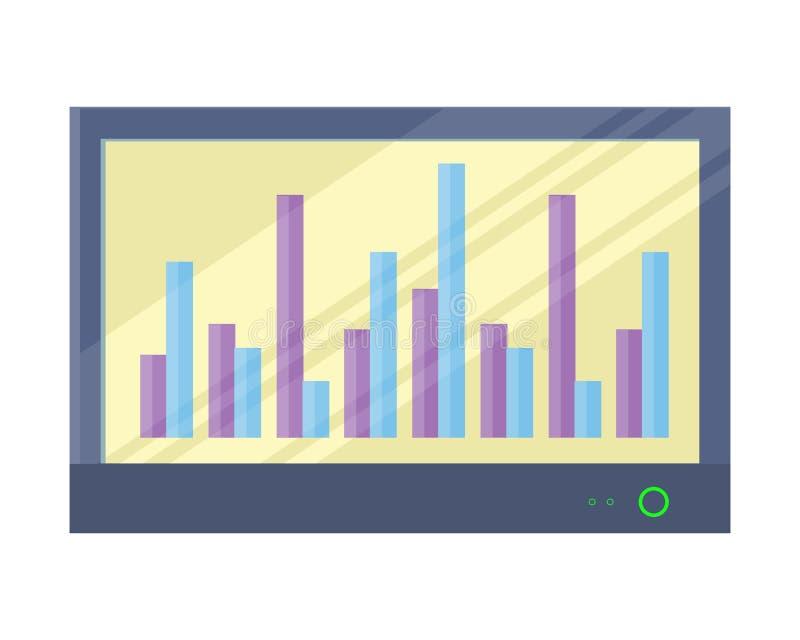 Whiteboard interativo com Infographics ilustração stock