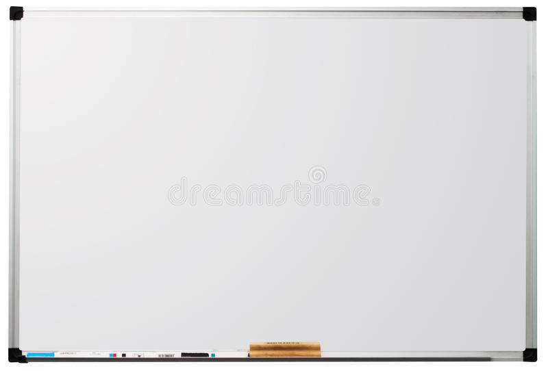 Whiteboard isolou-se no fundo branco imagens de stock
