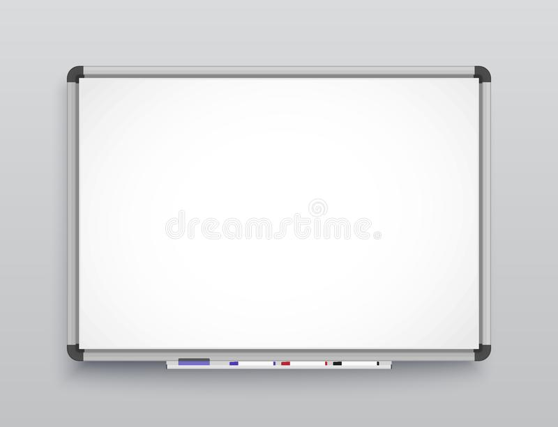 Whiteboard for markers. Presentation, Empty Projection screen. Office board background frame. Whiteboard for markers. Empty Projection screen, Presentation board vector illustration