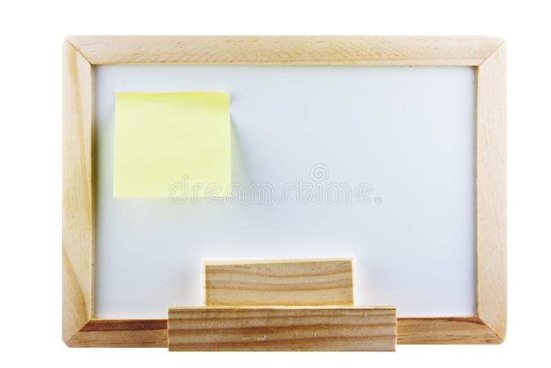 Whiteboard Met Post-itnota Stock Fotografie