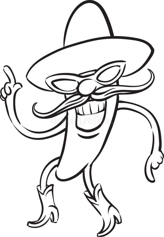 Whiteboard rysunek - chili pieprzu taniec royalty ilustracja