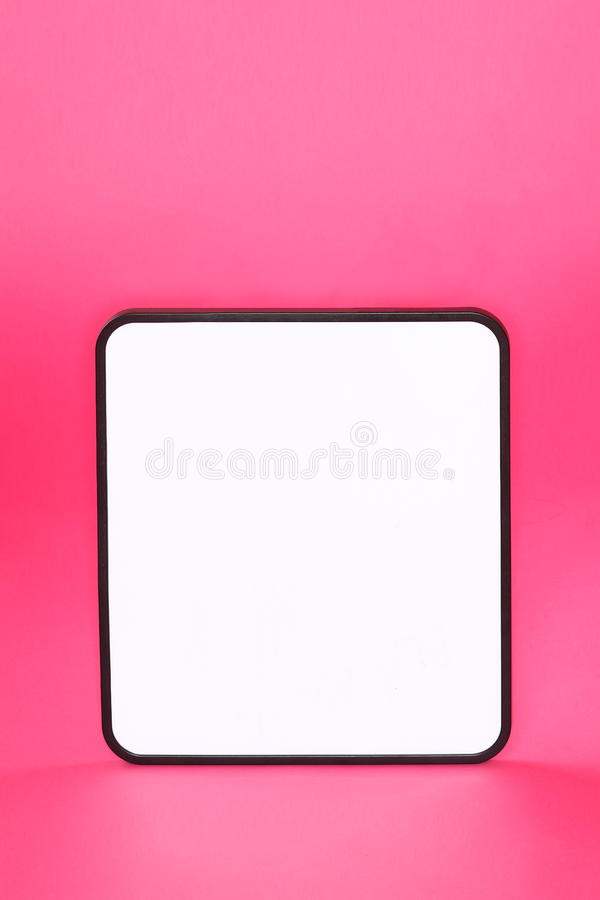 Whiteboard Sign On Pink Background Stock Images